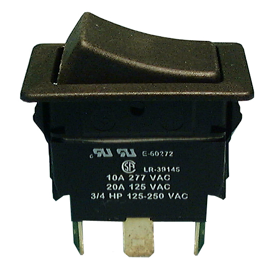 Philmore 30-620 SPDT ON-OFF-ON Maintained, Heavy Duty Rocker Switch 20A@125V AC