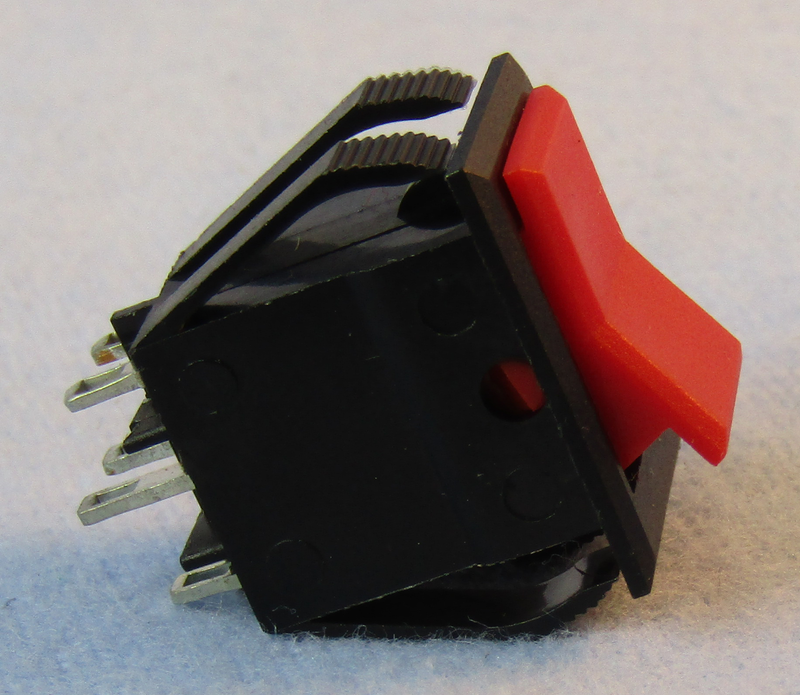 Philmore 30-654 DPDT ON-ON Maintained, Mini Snap-In Rocker Switch 8A@125V AC