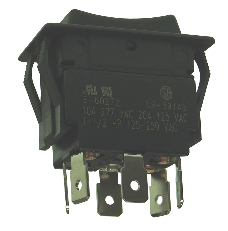 Philmore 30-690 DPDT ON-OFF-(ON), Heavy Duty Rocker Switch ~ 20A@125V