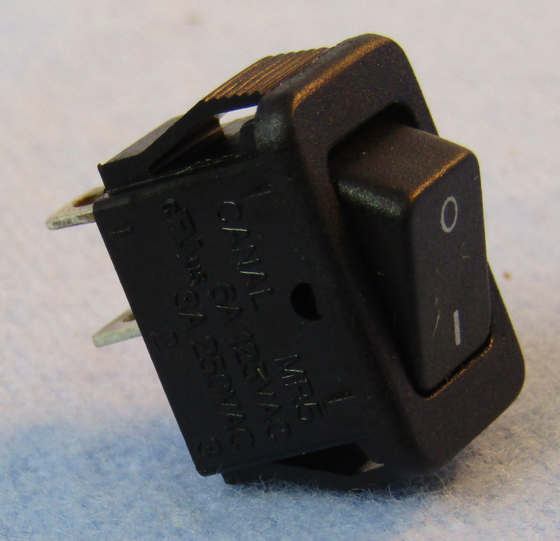 Philmore 30-872 SPST OFF-ON Black Micro Snap-In Rocker Switch 6A@125V