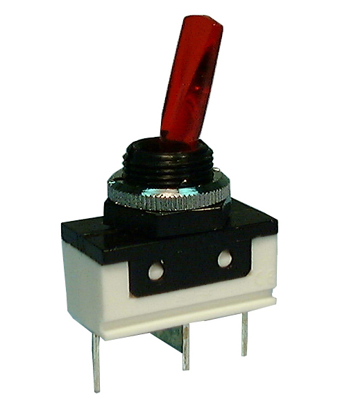 Philmore 30-890 SPST ON-OFF Red Lighted, Paddle Lever Toggle Switch 16A@12V DC