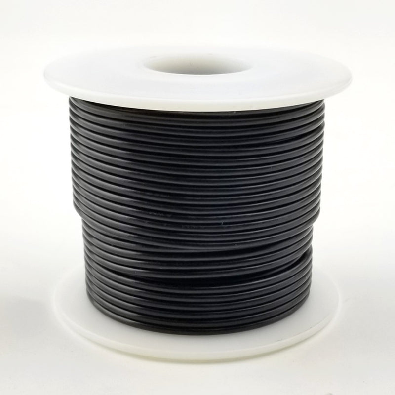 26 GA Black Solid 100 Ft 300 volt  HS26-00-100