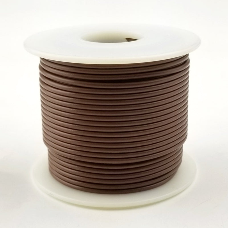 26 GA Brown Solid 100 Ft 300 volt  HS26-01-100