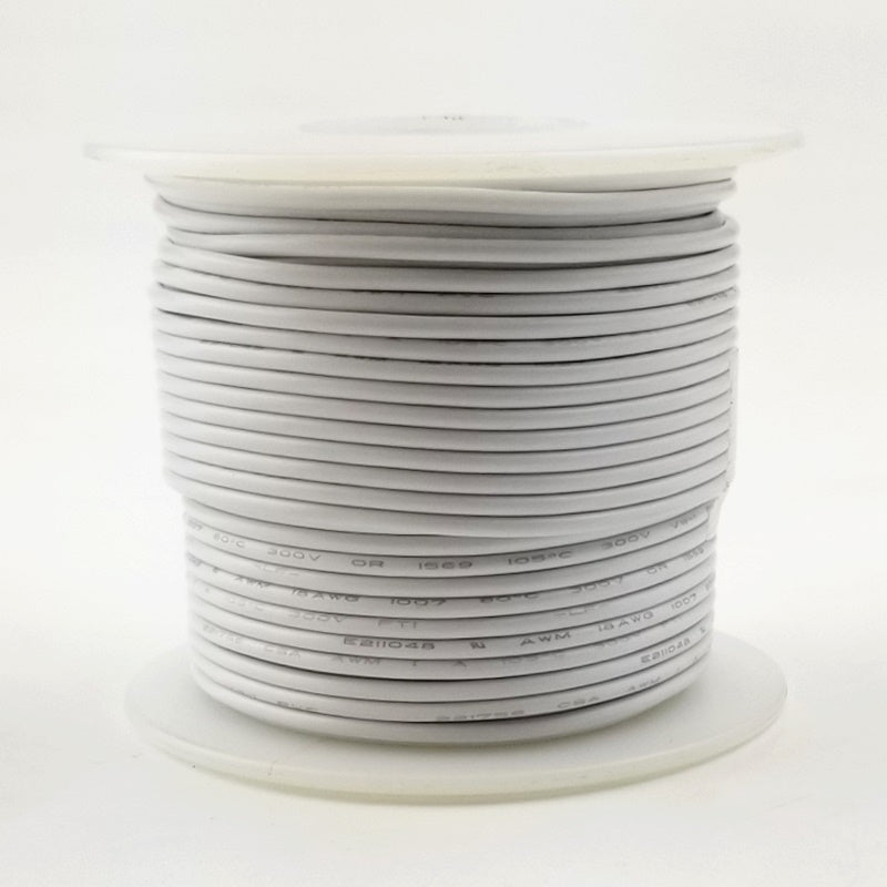 24 GA White Stranded 100 Ft 300 volt  H24-09-100