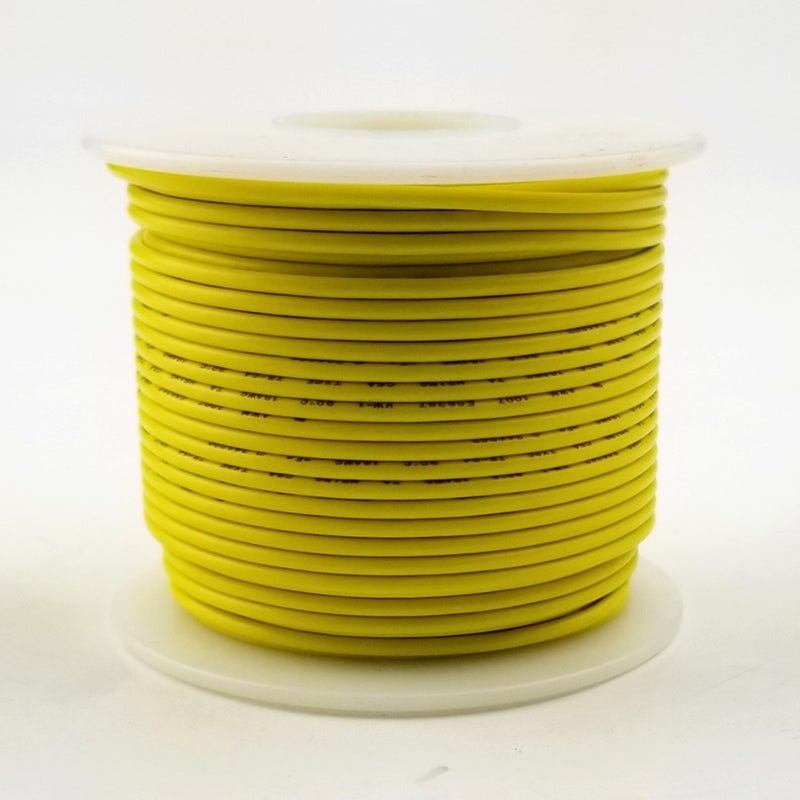 24 GA Yellow Stranded 100 Ft 300 volt  H24-04-100