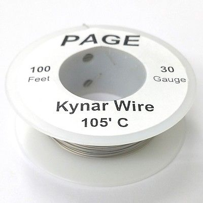 100' Page 30AWG GREY KYNAR Insulated Wire Wrap Wire 100 Foot Roll ~ Made In USA - MarVac Electronics