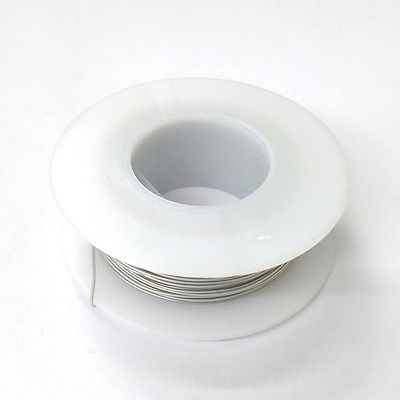 100' Page 28AWG GREY KYNAR Insulated Wire Wrap Wire 100 Foot Roll ~ Made In USA - MarVac Electronics