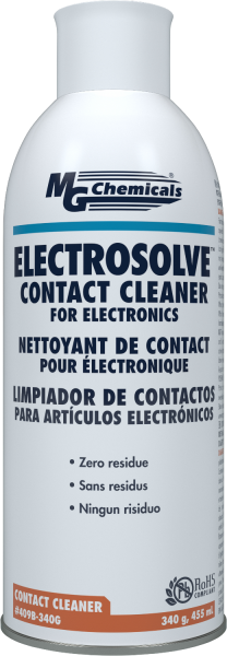 Electrosolve Contact Cleaner 340G 12oz (Aero) 409B-340G
