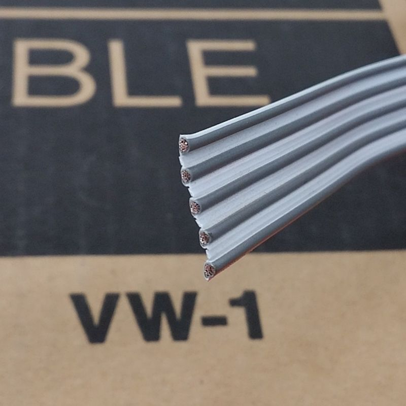 "10' 3M 8132/05, 5 Cond 18 Gauge 0.156"" 3.96mm Spacing Flat Ribbon Cable 5C 18AWG - MarVac Electronics"