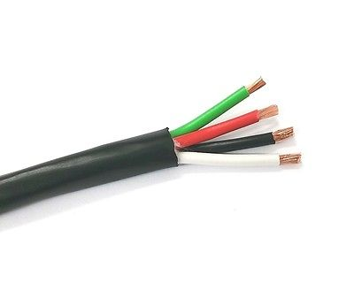25' 4C 14AWG Direct Burial, Sun Resistant Audio Speaker Cable CMR/CL3R OFC - MarVac Electronics