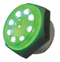 Philmore 44-1206 3-15V DC GREEN LED Lighted, Intermittent Piezo Sounder ~ 95dB