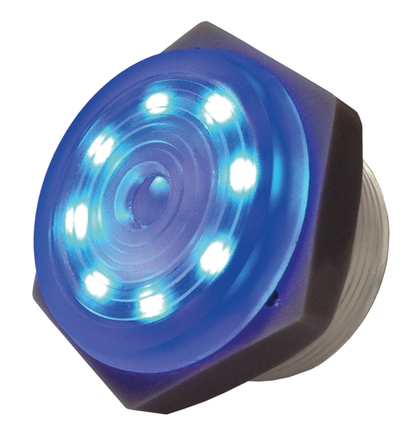 Philmore 44-1212 3-15V DC BLUE LED Lighted, Continuous Piezo Sounder ~ 95dB
