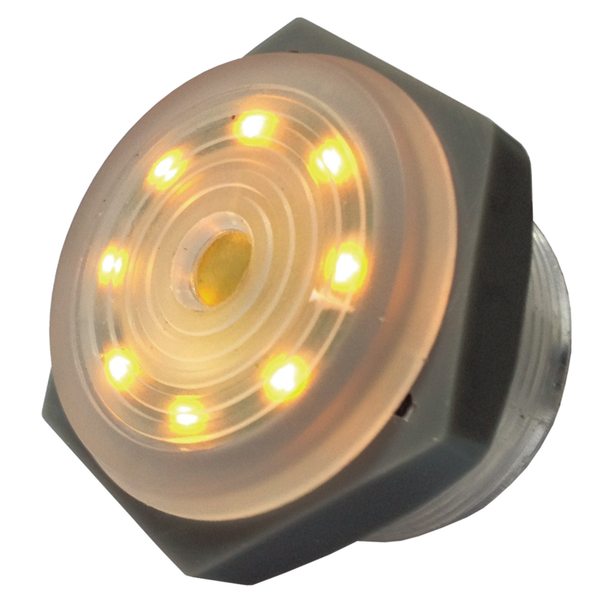 Philmore 44-1218 3-15V DC YELLOW LED Lighted, Continuous Piezo Sounder ~ 95dB
