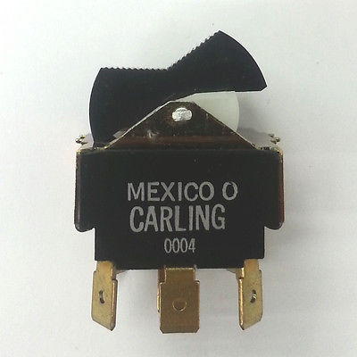 Carling TIIL51-1C-BL-FW 4PDT ON-ON Tippette Style Rocker Switch - MarVac Electronics