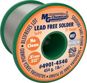 MG Chemicals 4901-454G , 454 gram (1.0 lb.) Roll of Sn99 Lead Free 21ga 0.032 No Clean Solder
