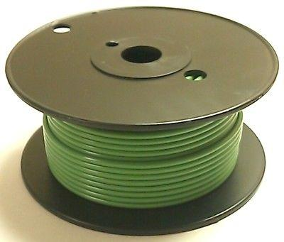 100' Roll 18 Gauge 18AWG GREEN GPT PVC Stranded 50V Automotive Hook Up Wire