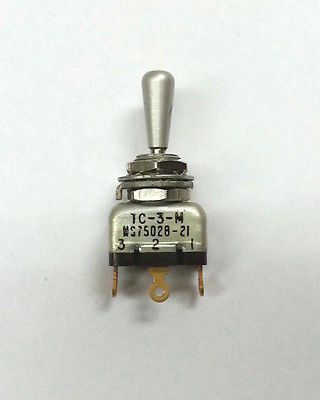 MS75028-21 AH TC-3-M SPDT ON-OFF-ON Mini Toggle Switch ~ Mil-Spec N O S