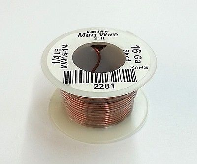 16 Gauge Insulated Magnet Wire, 1/4 Pound Roll (31' Approx. Length) 16AWG - MarVac Electronics