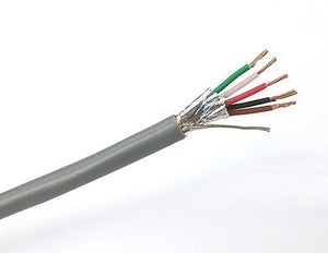 25' West Penn 3855 5 Conductor 22 Gauge Shielded Cable ~ 5C 22AWG CMR - MarVac Electronics