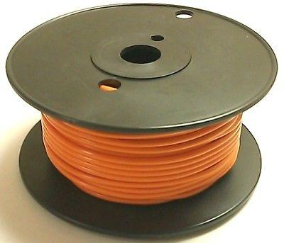 100' Roll 18 Gauge 18AWG ORANGE GPT PVC Stranded 50V Automotive Hook Up Wire