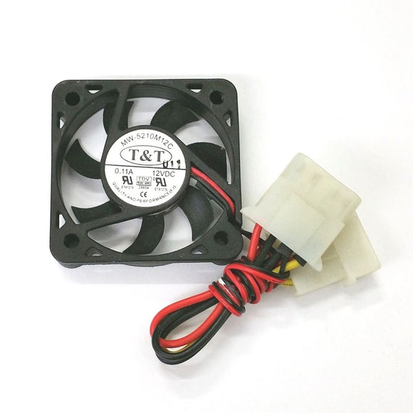 T&T MW-5210M12C 50mm x 10mm 12V DC Brushless Cooling Fan with PC Power Cable - MarVac Electronics
