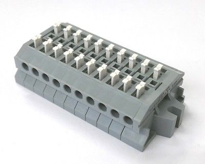 Sato Parts # ML-1700-A-10P 10 Position Screwless Terminal Block ~ 10A 300V