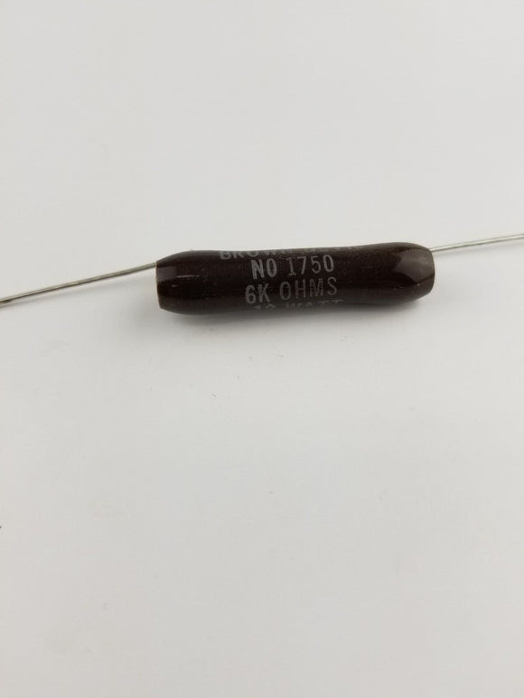 Ohmite B12J6k 6k Ohm 12 Watt Wirewound Ceramic Power Resistor 12W