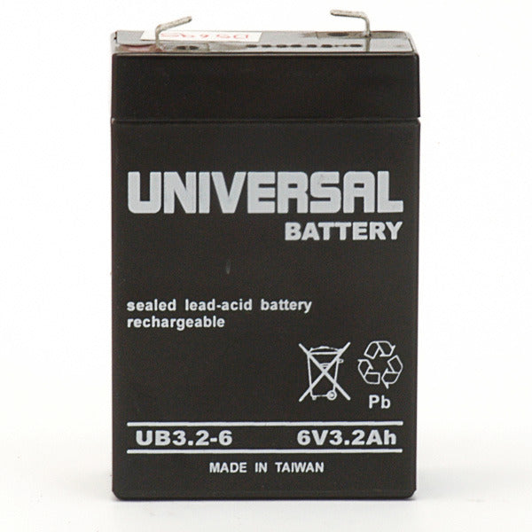 6V 3.2AH SLA Battery F1 Terminals UB632 F1