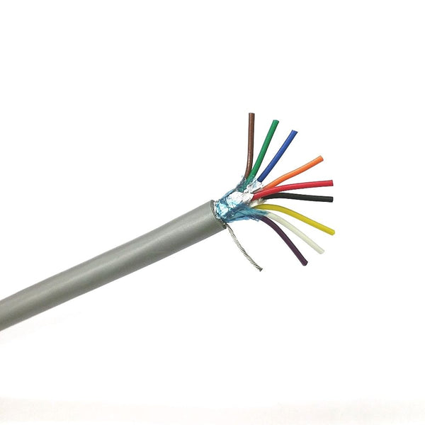 25' Quabbin 8195 9 Conductor 24 Gauge Shielded Cable 25 Foot Length ~ 9C 24AWG - MarVac Electronics