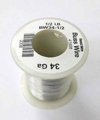 34 Gauge Tinned Copper Bus Wire, 1/2 Pound Roll (4,155' Approx. Lgth) 34AWG - MarVac Electronics