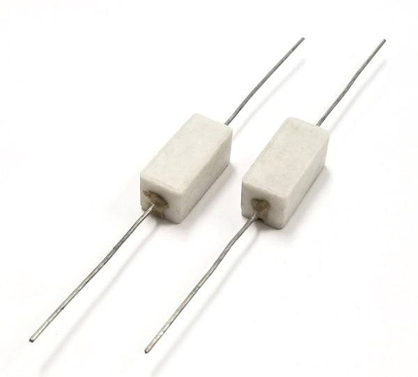 Lot of 2, 8 Ohm 5 Watt Wirewound Ceramic Power Resistors 5W