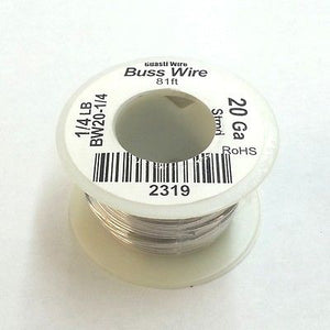 20 Gauge Tinned Copper Bus Wire, 1/4 Pound Roll (81' Approx. Length) 20AWG - MarVac Electronics