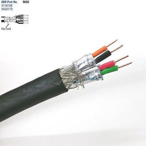 25' Belden 9688 2 Pair 22AWG Solid Shielded Pair, IBM Type 1A Token Ring Cable - MarVac Electronics