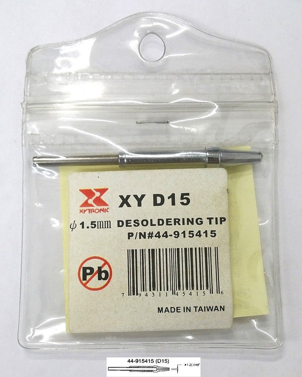 Xytronic 44-915415 1.5mm Conical Desoldering Tip ~ D15 415 - MarVac Electronics