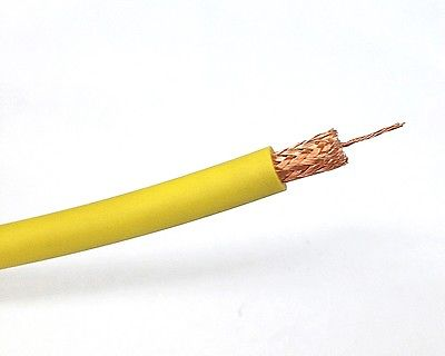 25' Canare LV-61S Yellow 75 Ohm RG-59B/U Video Coax Cable, 25 Foot Length - MarVac Electronics