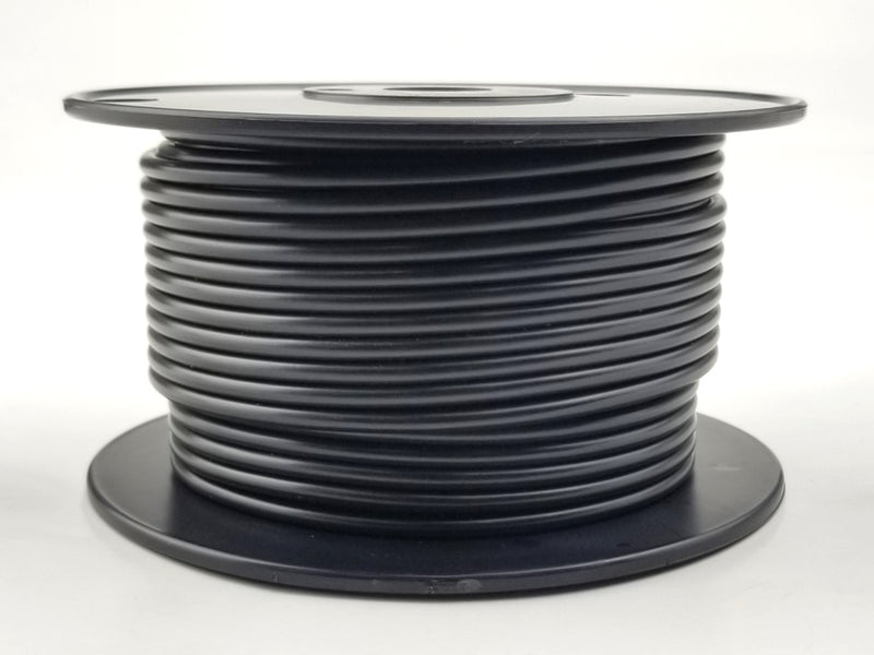 25' Roll 10AWG BLACK Stranded Appliance Grade 600 Volt Hook-Up Wire, UL1015 105C