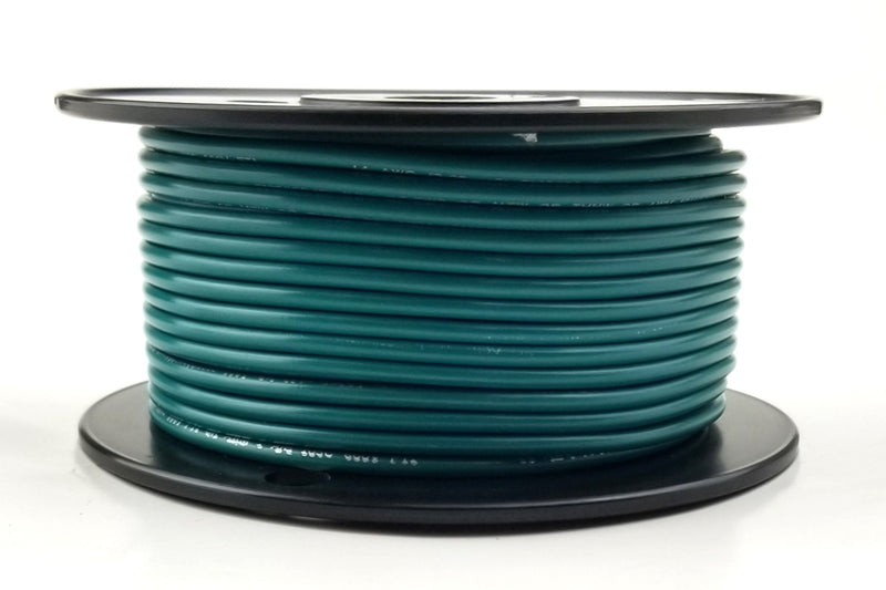 25' Roll 14AWG GREEN Stranded Appliance Grade 600 Volt Hook-Up Wire, UL1015 105C