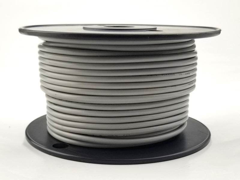 25' Roll 14AWG GREY Stranded Appliance Grade 600 Volt Hook-Up Wire, UL1015 105C