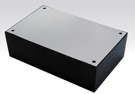 "Small ABS Plastic Utility Chassis Box with Aluminum Top, 3.937"" x 2.125"" x 1.375"" 64-8922"
