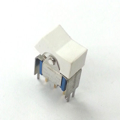 Lot of 5 Dialight 574-1112-0103-010 SPDT ON-ON White Miniature Rocker Switch - MarVac Electronics