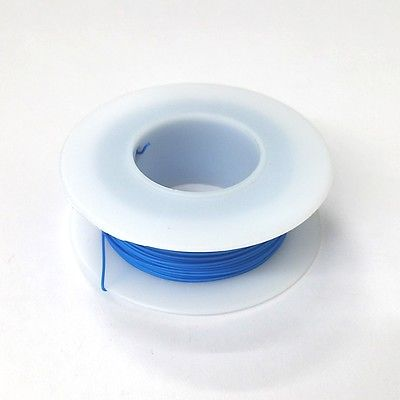 100' Page 28AWG BLUE KYNAR Insulated Wire Wrap Wire 100 Foot Roll ~ Made In USA - MarVac Electronics