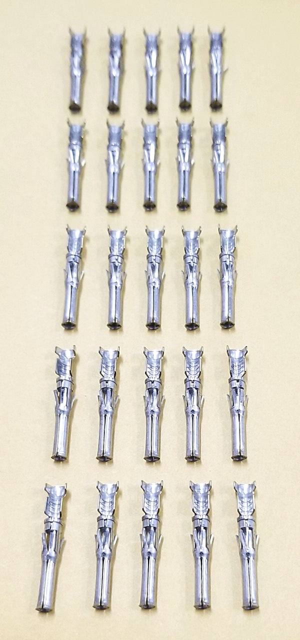 NEW Lot of 25 AMP 66590-1 Female Round Pins for CPC Series Connectors
