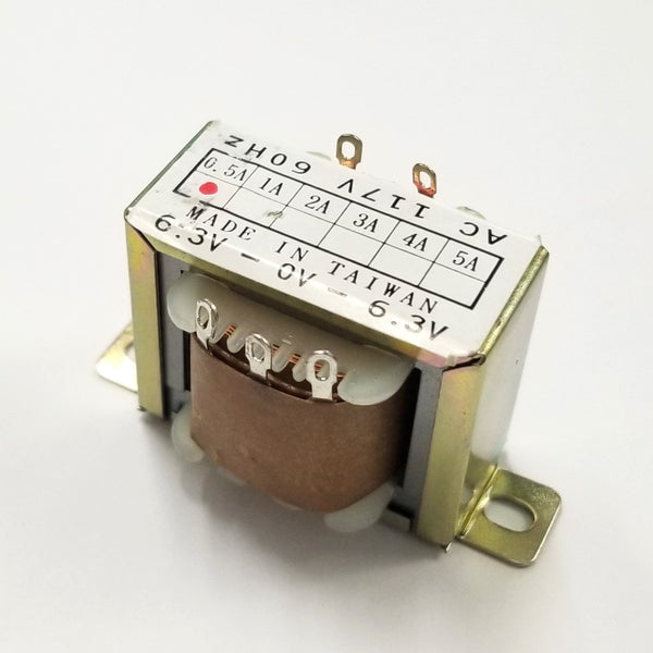 Center Tapped Power Transformer 117V AC Input / 12.6V AC @ 0.5A Output