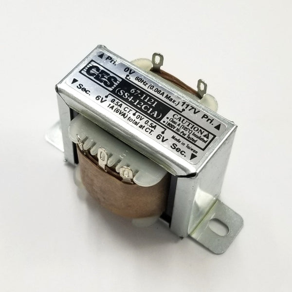 Center Tapped Power Transformer 117V AC Input / 12V AC @ 1.0A Output