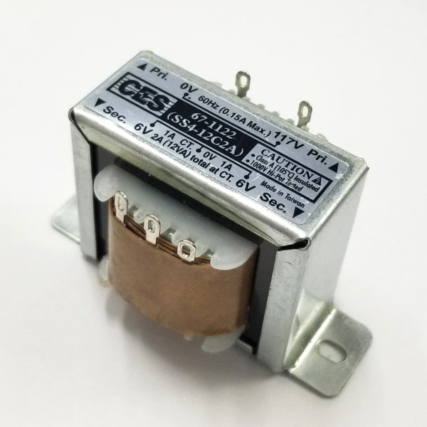 Center Tapped Power Transformer 117V AC Input / 12V AC @ 2.0A Output
