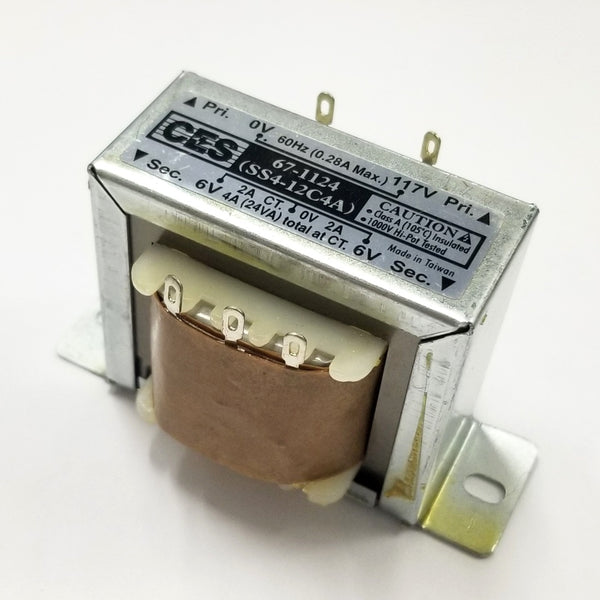 Center Tapped Power Transformer, 117V AC Input / 12V AC @ 4.0A Output
