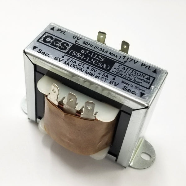 Center Tapped Power Transformer, 117V AC Input / 12V AC @ 5.0A Output