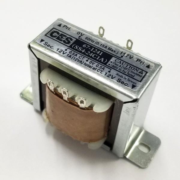 Center Tapped Power Transformer 117V AC Input / 24V AC @ 1.0A Output