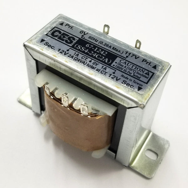 Center Tapped Power Transformer, 117V AC Input / 24V AC @ 2.0A Output
