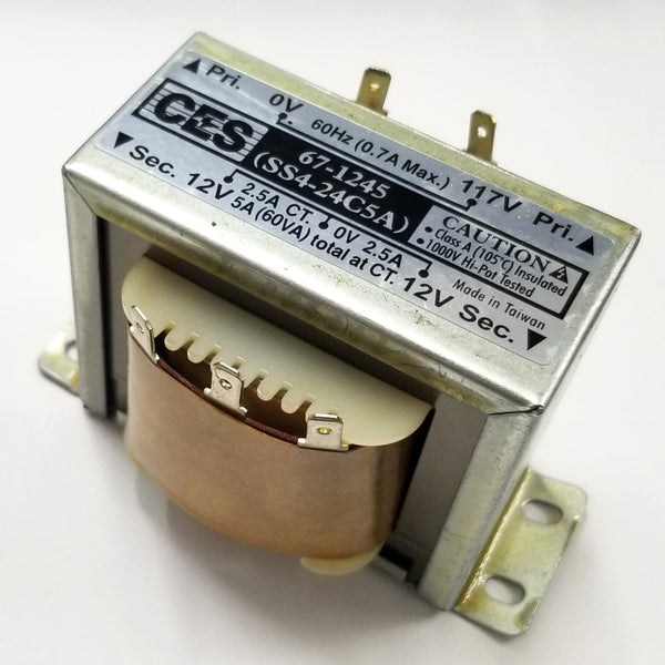 Center Tapped Power Transformer, 117V AC Input / 24V AC @ 5.0A Output